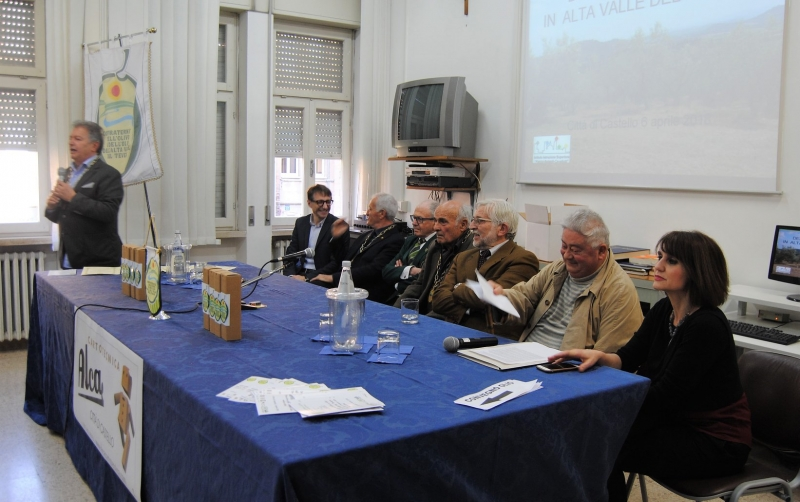 I relatori del Convegno con la Prof.ssa Marta Boriosi Dirigente del plesso scolastico ospitante