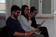 I tre studenti che hanno svolto e presentato ricerca sull'olivicoltura in Alta Valle del Tevere