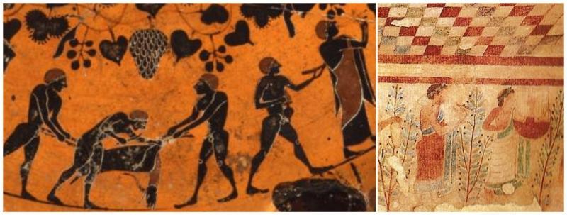alimentazione degli etruschi